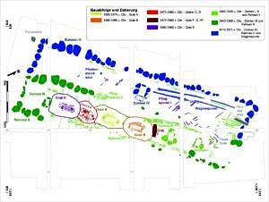 Plan der Baugeschichte des Megaltihgrabes Flintbek LA 3
