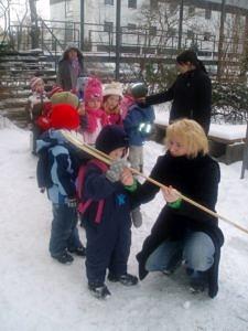 Kindergartenaktion mit der Vorzeitkiste
