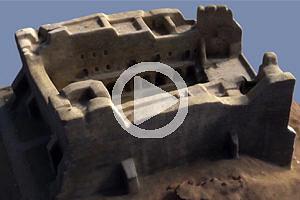 Virtueller Rundflug um das aus den UAV-Bildern erzeugte 3D-Modell der Festung Neamţ.