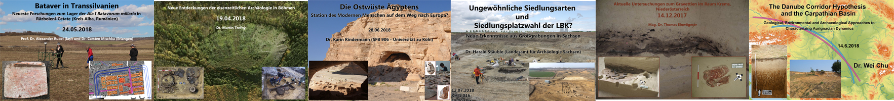 Bildleiste für die Seite Archäologisches Kolloquium