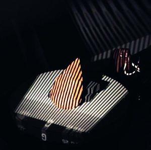 Streifenlichtscan eines paläolithischen Faustkeils.