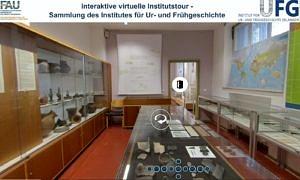 Screenshot der 360°-Tour durch die Sammlung